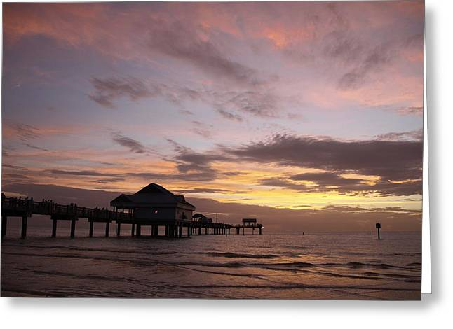 Clearwater Beach Sunset Greeting Card by Lori  Burrows