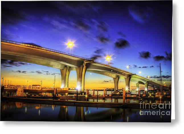 Clearwater Bridge Greeting Card by Marvin Spates
