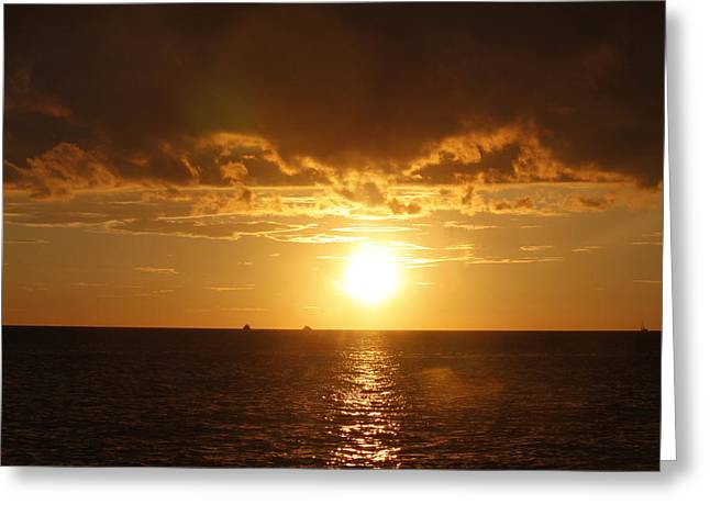 Greeting Card featuring the photograph Clearwater Sunset by Ivete Basso Photography