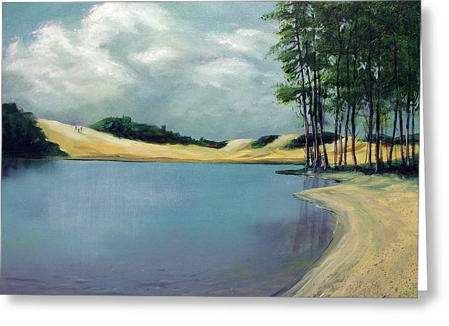 Cleawox Lake Greeting Card by Kenny Henson