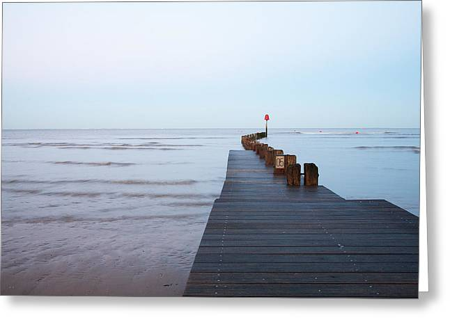 Greeting Card featuring the photograph Cleethorpes by Ian Middleton