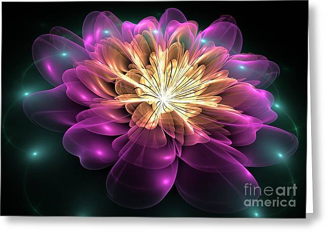 Clematis Magica Greeting Card by Svetlana Nikolova