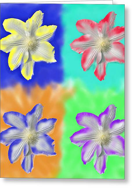 Clematis Osmosis Three Greeting Card