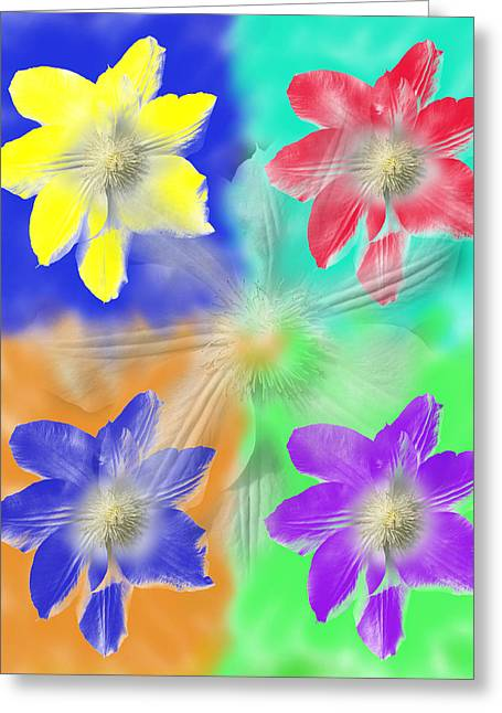 Clematis Osmosis Two Greeting Card