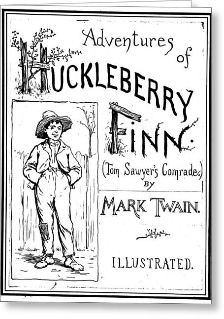 Clemens Huckleberry Finn Greeting Card by Granger