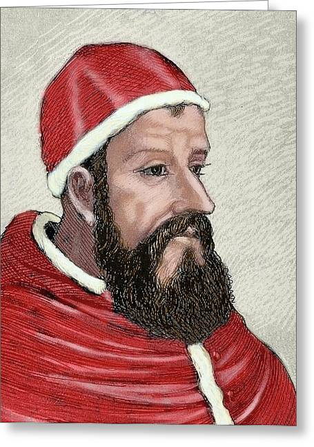 Clement Vii (1478-1534 Greeting Card by Prisma Archivo