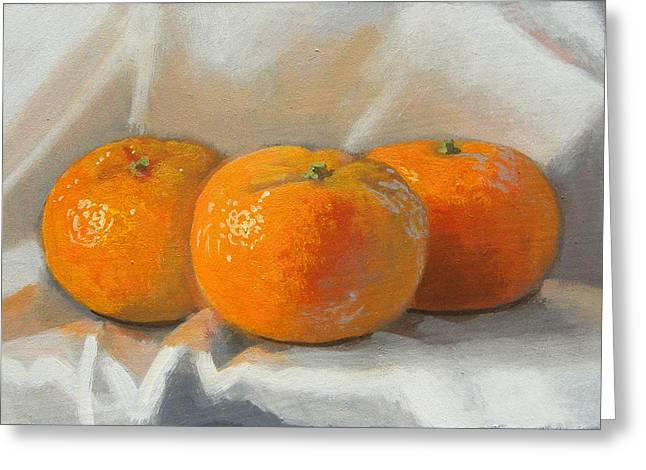 Clementines Greeting Card by Peter Orrock