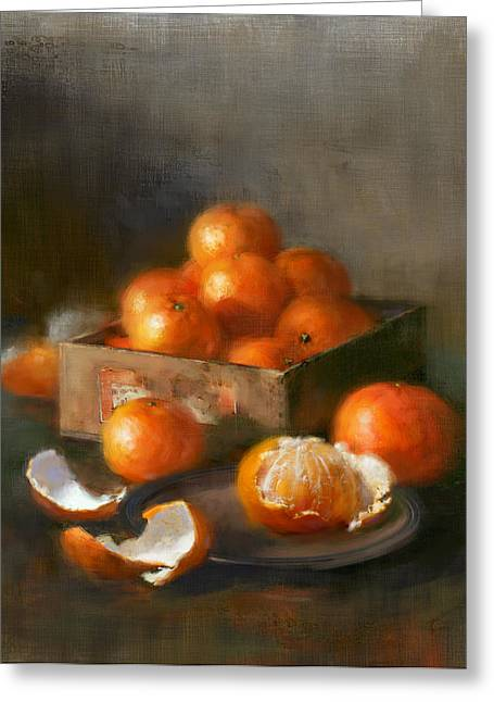Clementines Greeting Card by Robert Papp