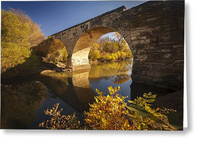 Clements Stone Arch Bridge Greeting Card by Scott Bean