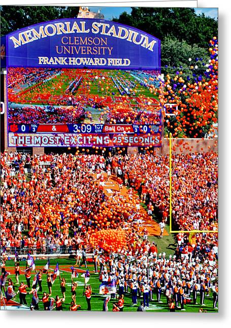 Clemson Football Iphone Galaxy Cover Greeting Card by Jeff McJunkin