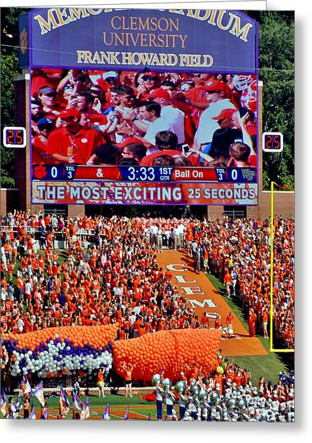 Clemson Tiger Iphone And Galaxy Cover Greeting Card by Jeff McJunkin