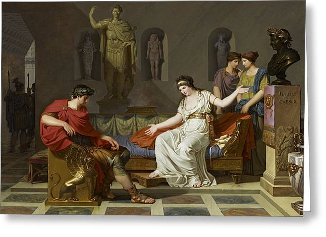 Cleopatra And Octavian Greeting Card by Louis Gauffier