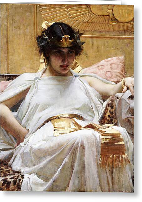 Cleopatra, C.1887 Oil On Canvas Greeting Card