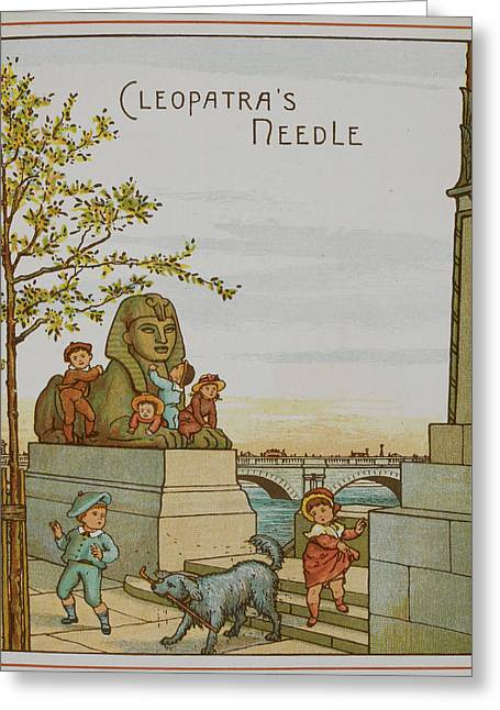 Cleopatra's Needle And The Sphinx Greeting Card