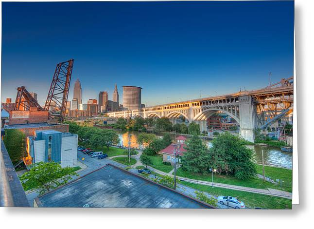 Cleveland Abstract Hdr Greeting Card