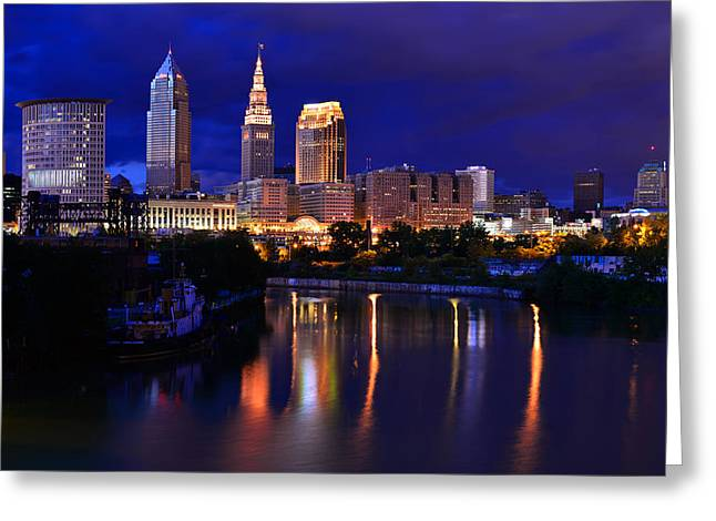Cleveland At The River's Bend Greeting Card
