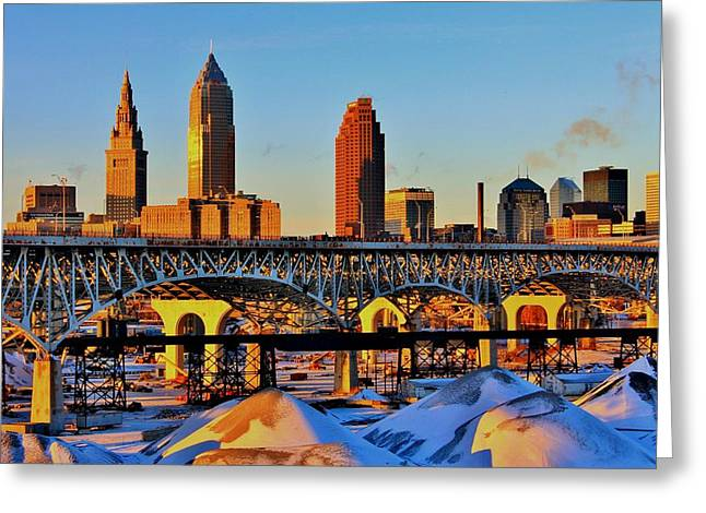 Cleveland Greeting Card by Benjamin Yeager