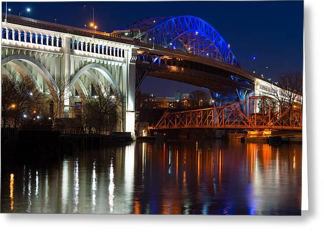 Cleveland Bridge Reflections Greeting Card