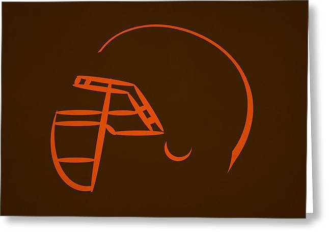 Cleveland Browns Helmet Greeting Card by Joe Hamilton
