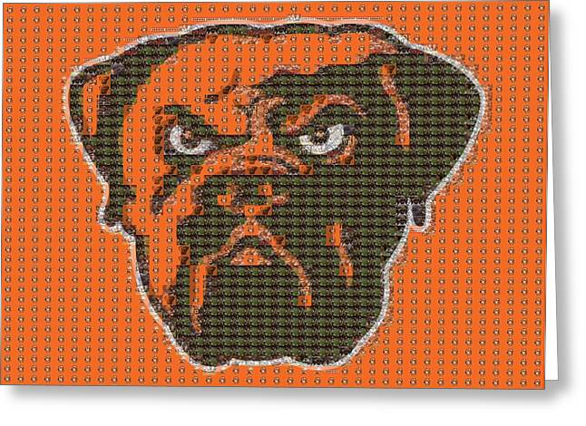 Cleveland Browns Mosaic Greeting Card