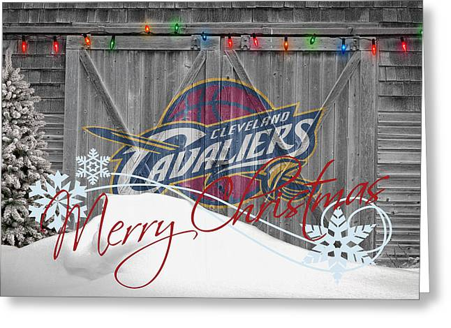 Cleveland Cavaliers Greeting Card by Joe Hamilton