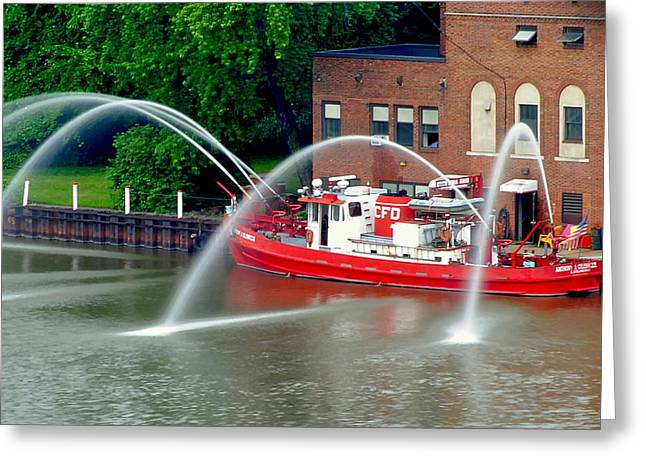Cleveland Firehouse Greeting Card by Frozen in Time Fine Art Photography