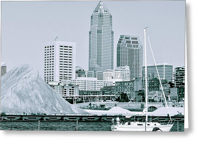 Cleveland Flats Greeting Card by MB Matthews