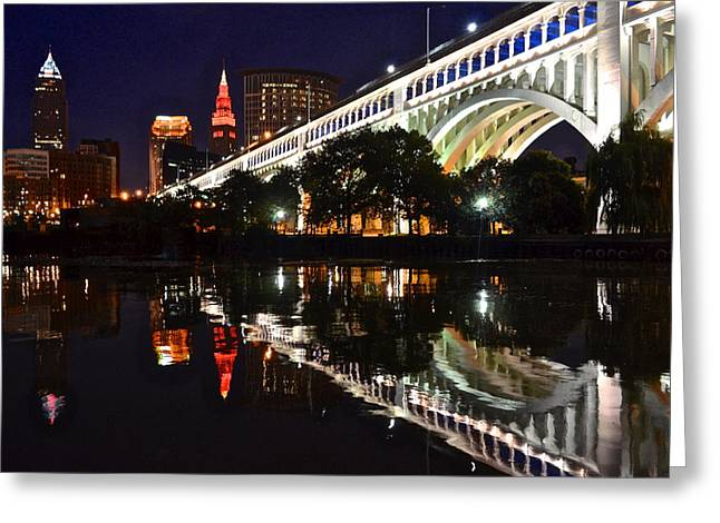 Cleveland Flats Greeting Card by Frozen in Time Fine Art Photography