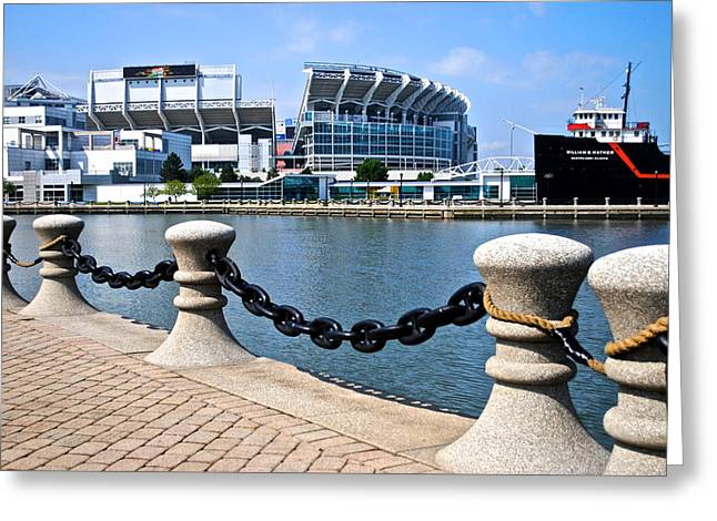 Cleveland Glory Greeting Card by Frozen in Time Fine Art Photography