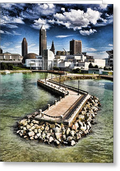 Greeting Card featuring the photograph Cleveland Inner Harbor - Cleveland Ohio - 1 by Mark Madere
