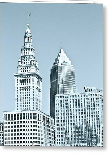 Cleveland  Greeting Card by MB Matthews