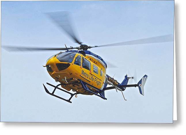 Cleveland Metro Life Flight Greeting Card by Frozen in Time Fine Art Photography