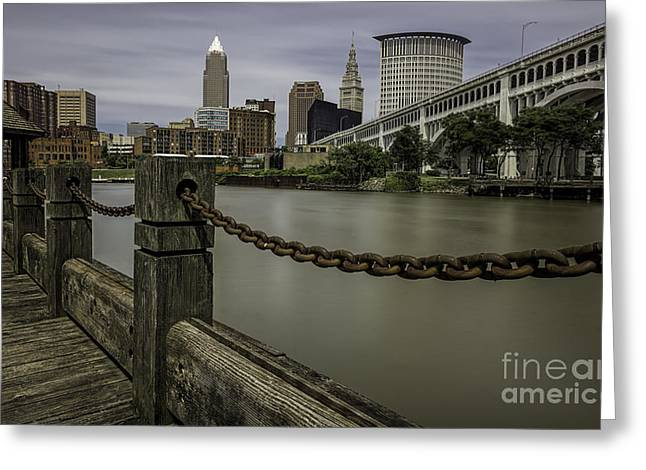 Cleveland Ohio Greeting Card by James Dean