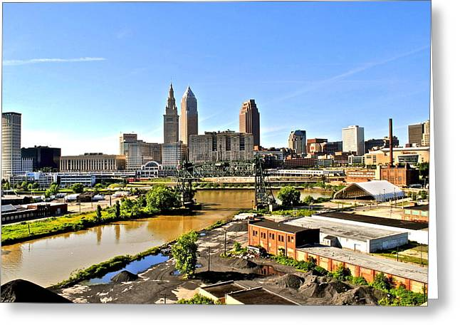 Cleveland Ohio Greeting Card by Frozen in Time Fine Art Photography