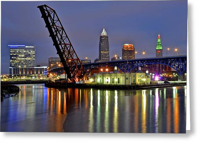 Cleveland Rainbow Greeting Card by Frozen in Time Fine Art Photography
