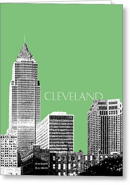 Cleveland Skyline 2 - Apple Greeting Card by DB Artist