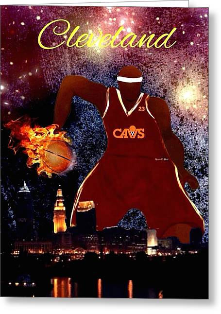 Cleveland Two Greeting Card by Romaine Head