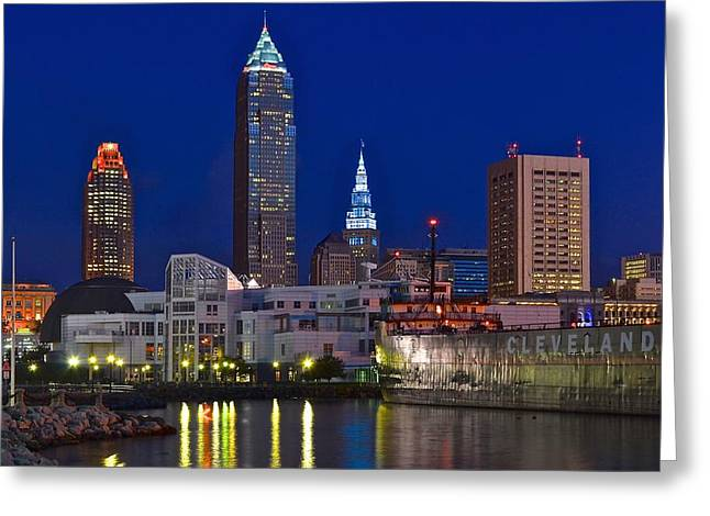 Cleveland Up Close Greeting Card by Starving  Artist