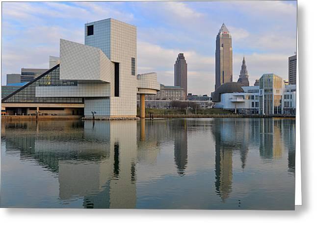 Cleveland Waterfront Daytime Panorama Greeting Card