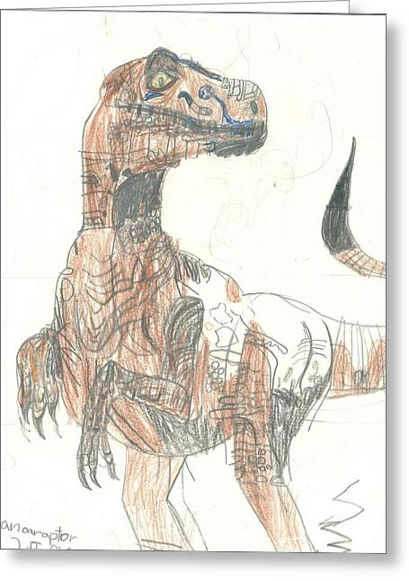 Greeting Card featuring the drawing Clever Girl by Fred Hanna
