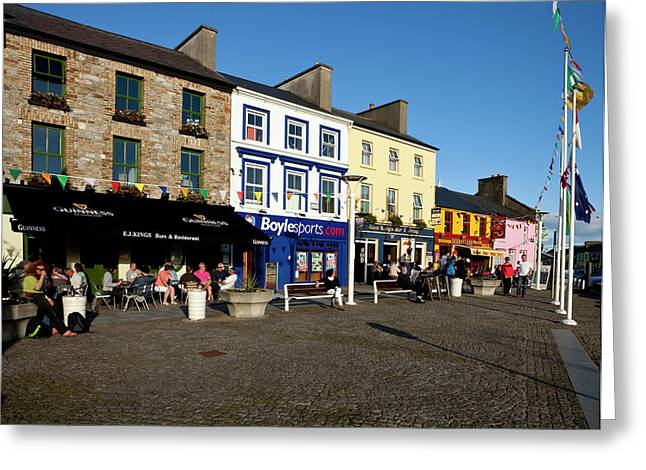 Clifden Town Centre And Contemporary Greeting Card by Panoramic Images