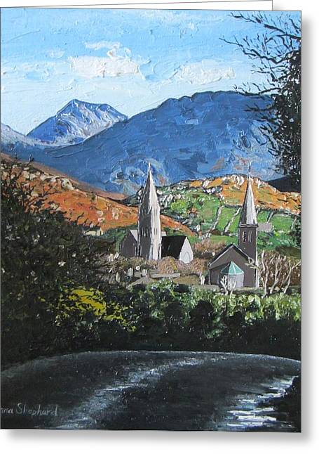 Clifden Town Connemara Co Galway Ireland Greeting Card