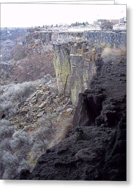 Cliff Greeting Card by Angela Stout