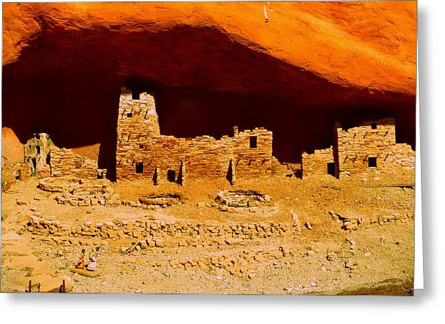 Cliff Dwellings Greeting Card by Randall Weidner