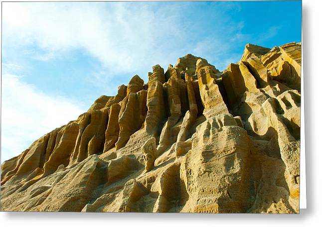 Cliff Face Between Fillmore Greeting Card by Panoramic Images