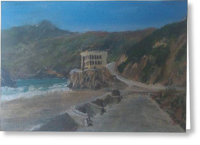 Cliff House Greeting Card by Niko Sanchez
