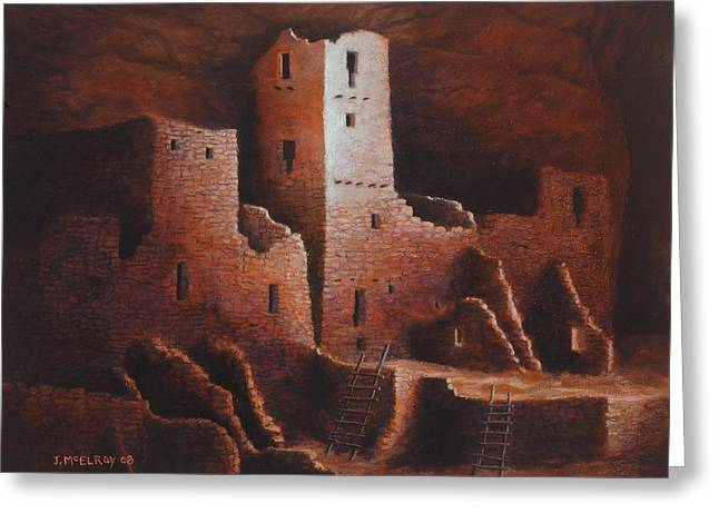 Cliff Palace Greeting Card by Jerry McElroy