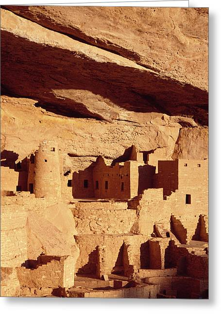Cliff Palace Ruin In Mesa Verde Greeting Card