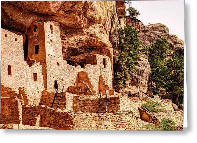Cliff Palace Tower And Mesa Verde - National Park - Colorado Greeting Card