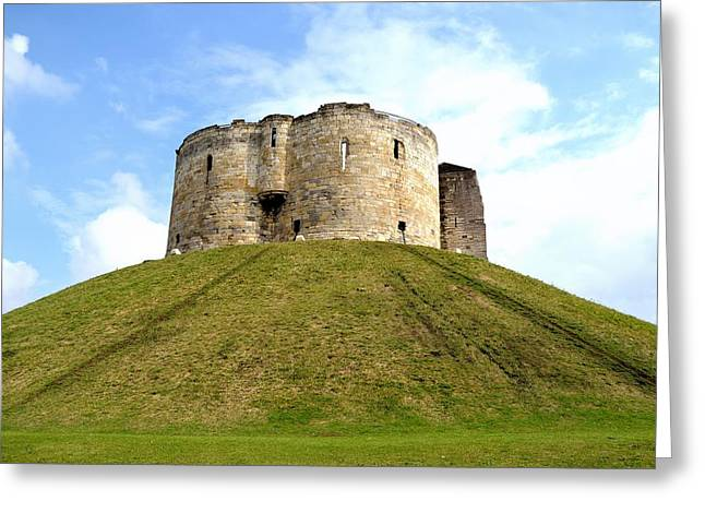 Greeting Card featuring the photograph Clifford's Tower York by Scott Lyons